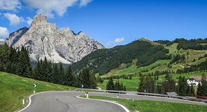 road biking Dolomites, Italy